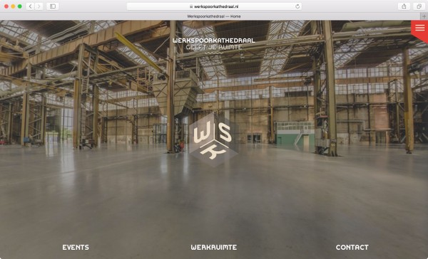 Screenshot Werkspoorkathedraal-website